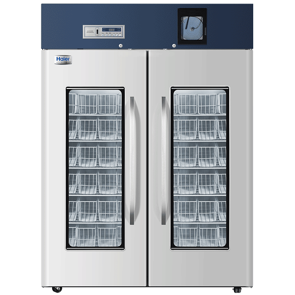Tủ bảo quản máu,vacxin haier HXC-1308 dung tích 1308 lít,có máy ghi nhiệt độ