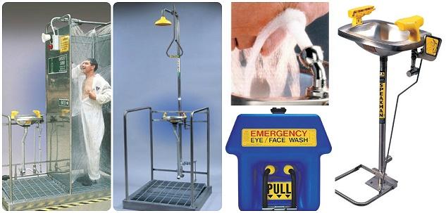 Cách sử dụng voi tắm rửa khẩn cấp